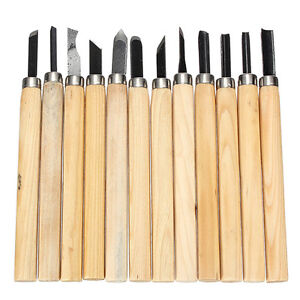 12-Pro-Schnitzmesser-Satz-Holzgriff-Schnitz-Werkzeug-Holz-Bearbeitung-Tool-A9O0