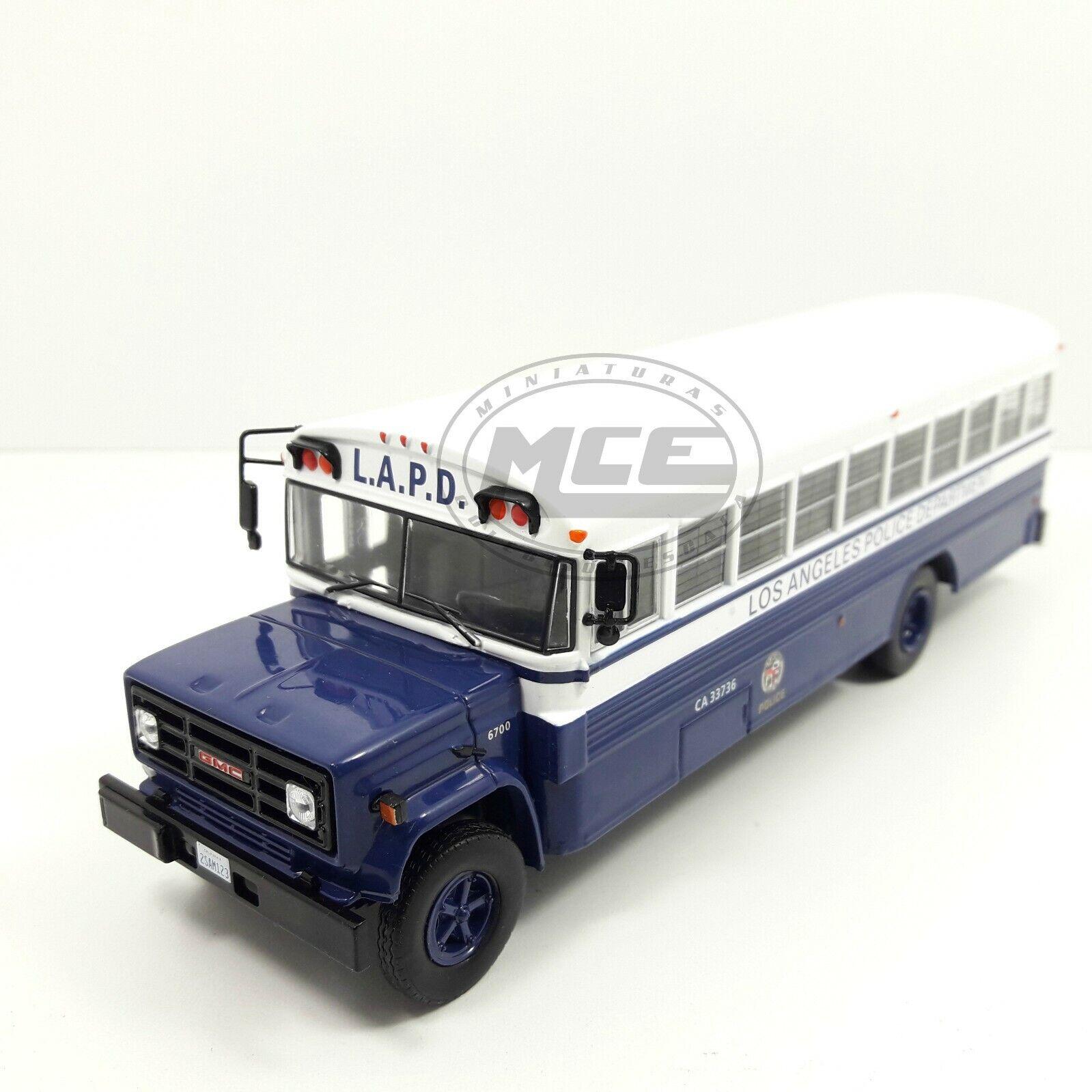 1 43 AUTOBUS BUS GMC 6000 LAPD POLICE DEPARTMENT IXO