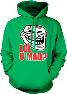 LOL U Mad? Trollface Meme Face Troll Cool Internet Angry ...