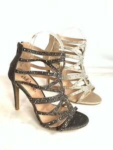 new-women-039-s-caged-glitter-rhinestone-heels-stiletto-party-wedding-evening