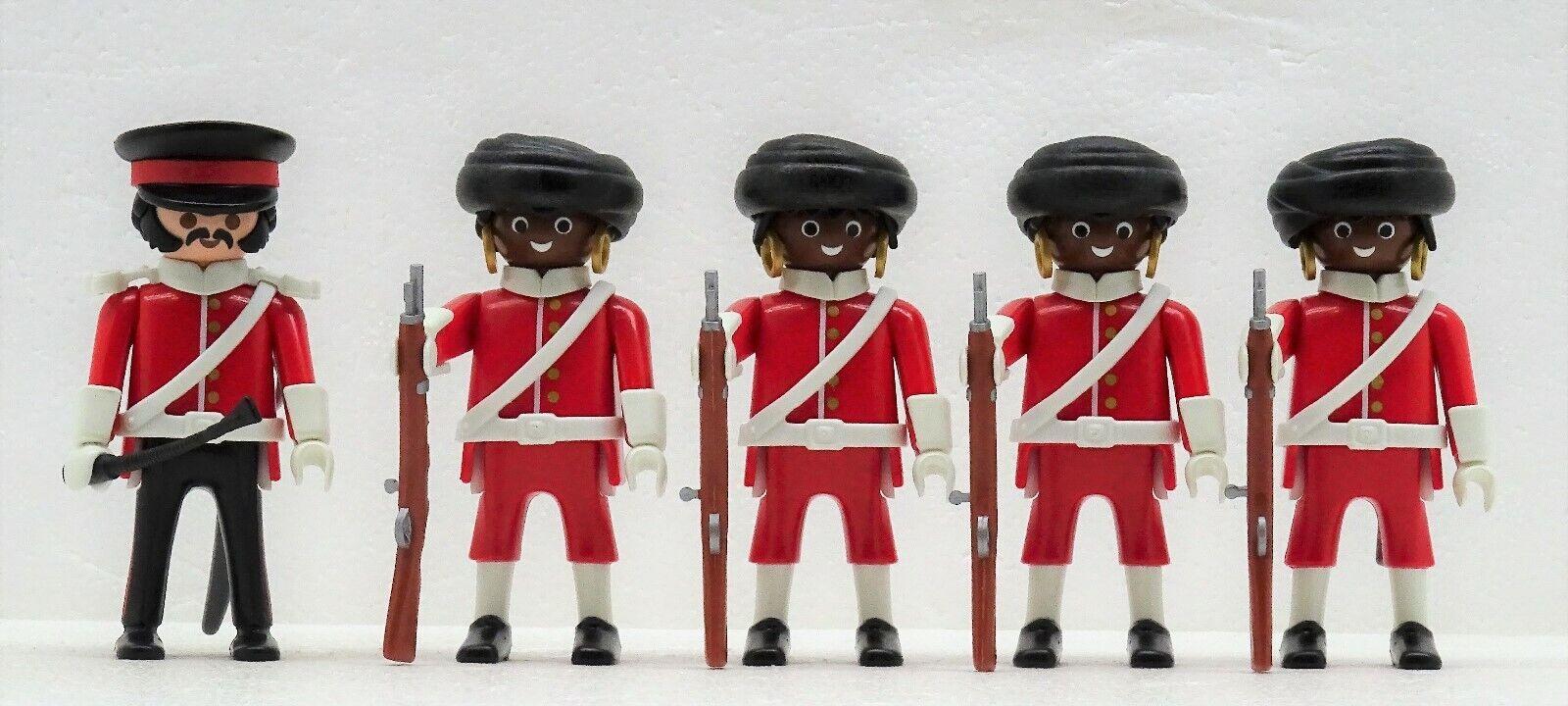 Royal Guard Coloniale Soldati Playmobil  per 4577 Askari Prossoezione Britannico  designer online