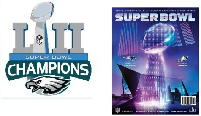 Super Bowl 52 NFL National Program Philadelphia Eagles Champions Superbowl  LII 385d1e0e5