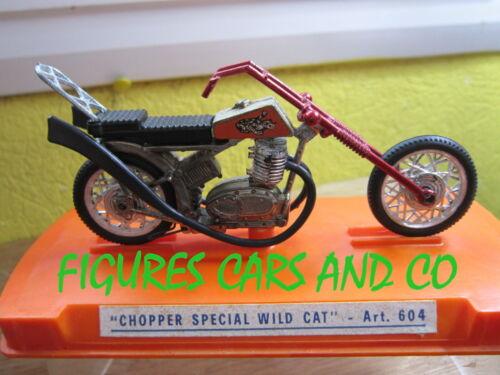 MOTO 1//24 CHOPPER SPECILA WILD CAT ROUGE MERCURY ITALIE 1970-80