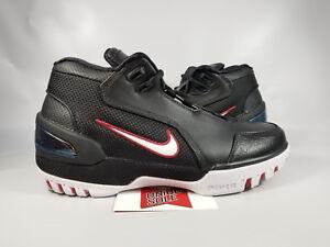 c2ac24b06a9 Nike LeBron AZG Air Zoom Generation BLACK FIRST GAME RED AJ4204-001 ...