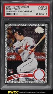 2011-Topps-Update-Diamond-Mike-Trout-ROOKIE-RC-US175-PSA-10-GEM-MINT