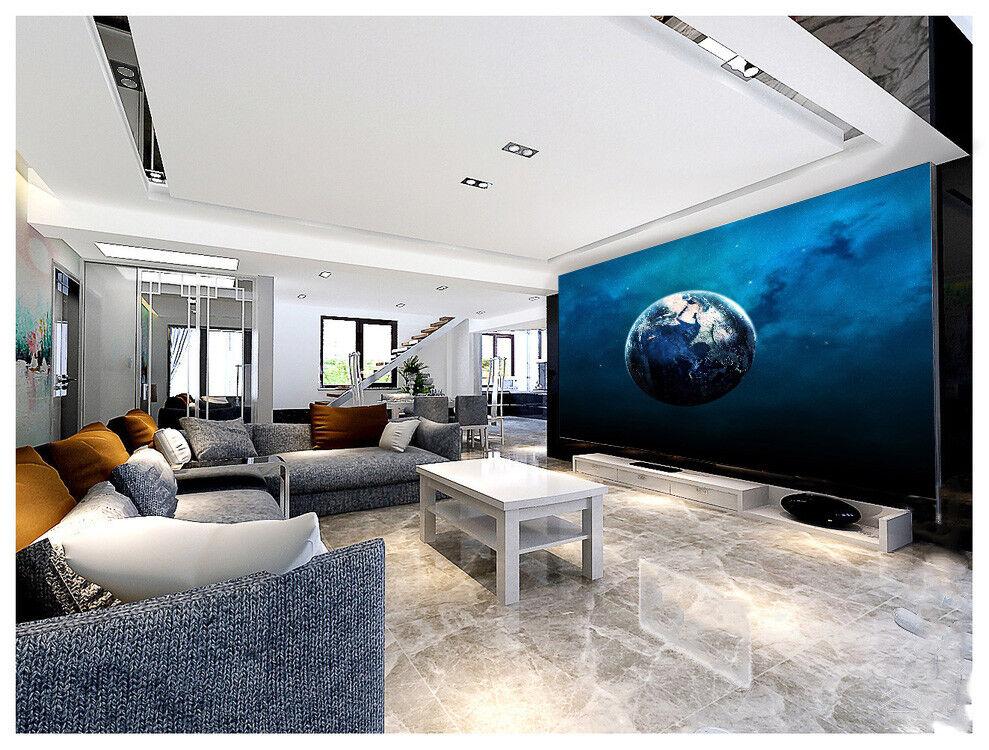 3D Earth Blau Sky 45 Wall Paper Wall Print Decal Wall Deco Indoor Mural Lemon
