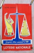 Cartel de Lotería Nacional Francesa Original 1954 por P. Courtois