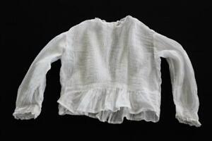 Rare Antique Victorien Nourrisson Pour Filles Chemisier Coton Bordure En ExtrêMement Efficace Pour Conserver La Chaleur