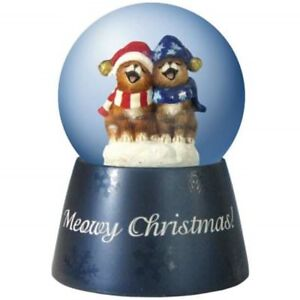 Details about Snow Globe Meow Christmas Caroling Cats Musical Holiday  Figurine Westland Gifts