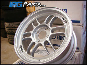 Enkei Rpf1 15x7 41mm 4x100 Silver Light Weight Racing Wheels Civic