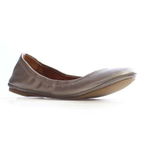 Women Lucky EMMIE Pewter Slip-On Elasticized Topline Ballet Flat Shoes