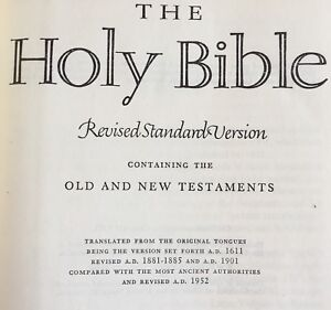 Vintage-Holy-Bible-Revised-Standard-Version-Nelson-Hardcover-1953
