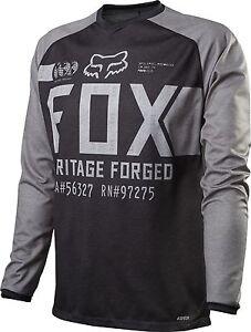 Fox Racing Indicator L//S Long Sleeve Jersey Heather Black