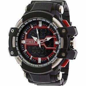 Timex-Men-039-s-Tactic-TW5M22700-Big-Digital-Analog-Combo-Black-Resin-Strap-Watch