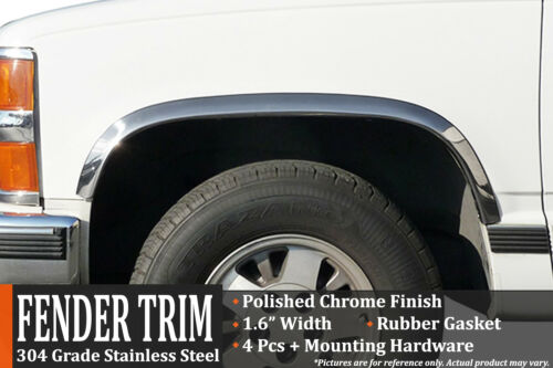 GMC Sierra Fender Trim Wheel Molding With Side Moldings 1988-1998 CK Pickup