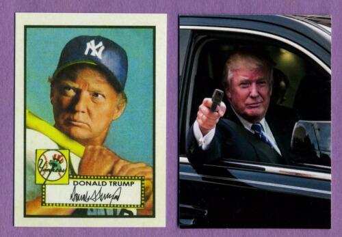 Donald Trump New York Yankees 1952 Topps Mickey Mantle Rookie Style Fantasy Card