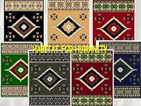 5' X 8 Area Rug Southwestern 2 Design Apache Indian Theme Rugs