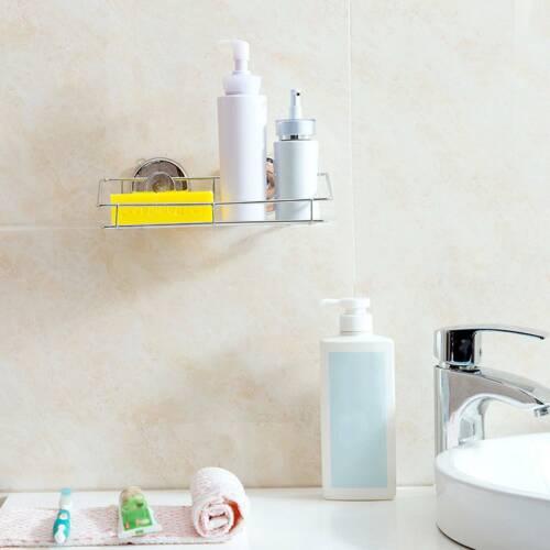 Duschregal Duschablage Duschkorb ohne bohren Edelstahl Wandregal mit 2Saugnäpfen