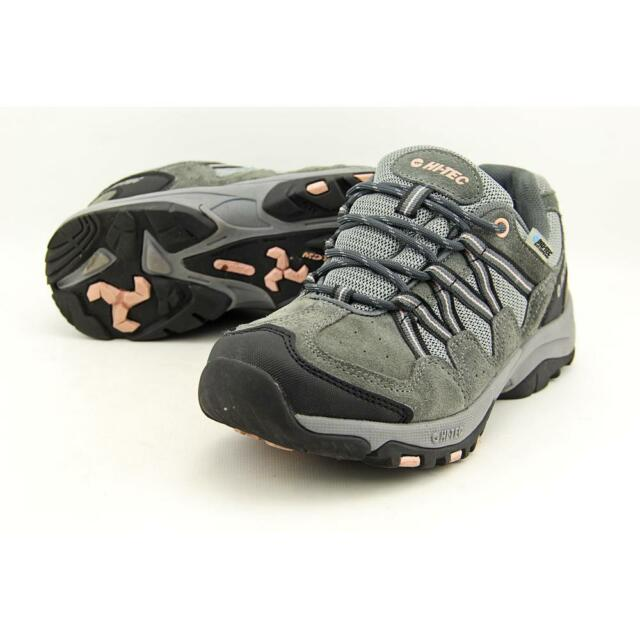Hi-Tec Florence Low Wp Wos Women US 7.5 Gray Trail Running Pre Owned 1945