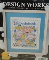 Design Works Rub-a-dub 9632 Counted Cross Stitch Kit 8 X 10