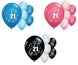 "10 x Happy 6th Birthday 9/"" Latex Balloons Mixed Air Fill Six Party Decoration"