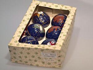 Vintage Eckartina Christbaumschmuck Baumkugeln Teddy Engel Baby Blau