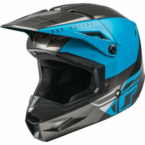 Details about  /Fly Racing Kinetic Straight Edge BMX Race Helmet-Blue//Grey//Black