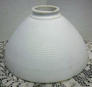 Vtg corning milk glass lamp shade diffuser torchiere honeycomb image is loading vtg corning milk glass lamp shade diffuser torchiere aloadofball Gallery