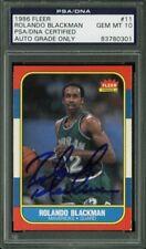 1986 Fleer Rolando Blackman #11 Basketball Card