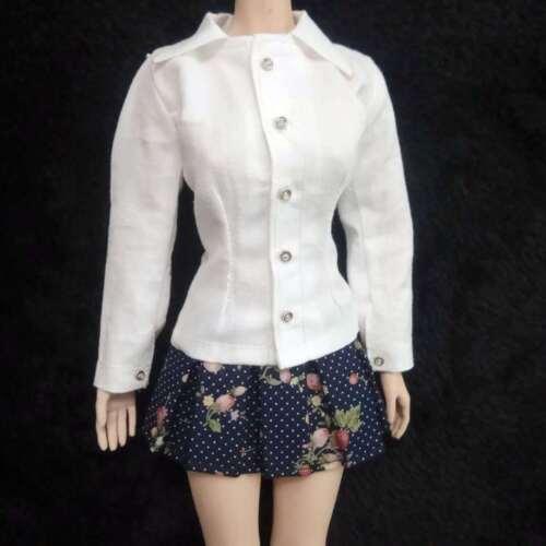 "1:6th Female White Long-sleeved shirt For 12/"" TBLeague Phicen Large Bust Body"