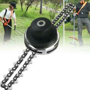 Metal-Trimmer-Head-Coil-Chain-Brushcutter-Garden-Grass-Lawn-Mower-String-Durable
