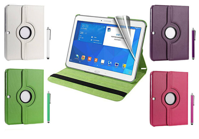 New Rotating Magnet Flip Leather Stand Case Cover For Samsung Galaxy Tab 4 T530