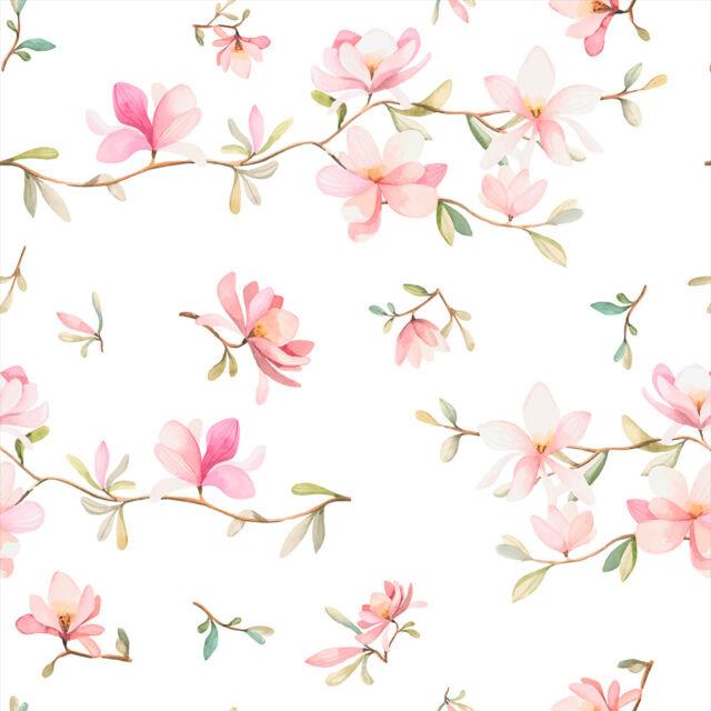 Vlies Tapete Rolle Blumen Magnolien Garten Fototapete Mustertapete b-B-0046-j-b