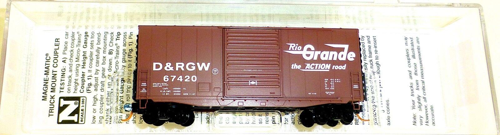 D&rgw 40 Hy Cubo scatola Auto Single Micro Treno 101 00 130 N 1 160 HU3 Å