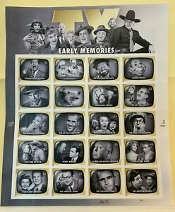 TV EARLY MEMORIES - #4414 MNH  - 44 Cents - Sheet of 20 Postage Stamps - 2009
