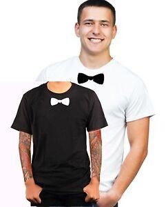 Fliege-Aufdruck-Krawatte-Anzug-fun-T-Shirt-Funshirt-JGA-Geschenk-Textildru-S488