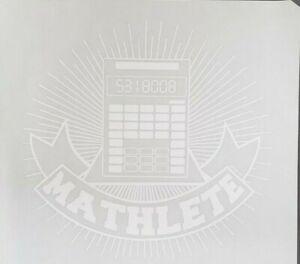 """Mathlete Logo Iron On Heat Transfer White 11""""X12""""  for the Math Genius"""