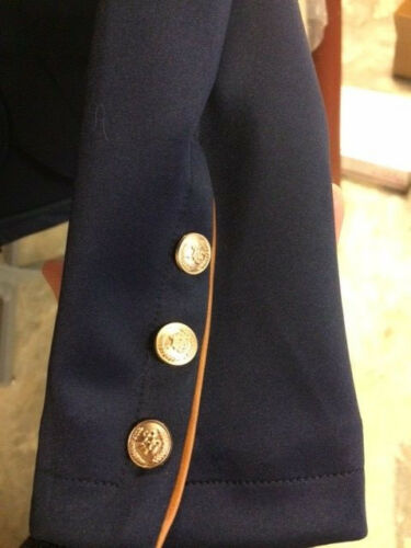 HKM Lauria Garrelli Competition Show Jacket Navy with brown piping