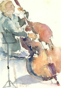 A-Pair-of-1990-Watercolours-Two-Musicians