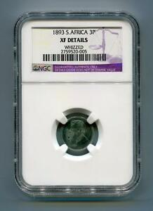 South-Africa-ZAR-NGC-Certified-1893-Kruger-3-Pence-XF-Details