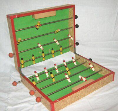 Angemessen Kl. Vintage Reise- Kicker- Fussballspiel, Klappbar, 50er Oder Früher