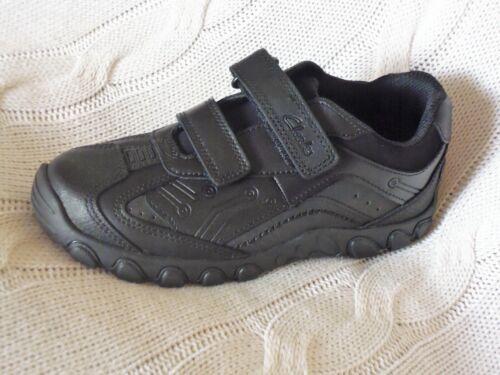 boys Clarks JACK SHINE kids Black Leather School Shoes size 11 F RRP£38