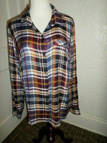 M 190365265111 Lucky Plaid Shirttail Button Nwt Back Shirt Size Brand Ozvq8