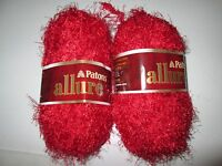 Lot Of 2 Skeins Of Paton's Allure Yarn--garnet