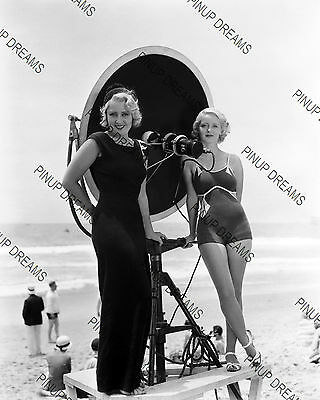 "Vintage 10"" x 8"" Photograph of Movie Stars Bette Davis and Joan Blondell reprint"