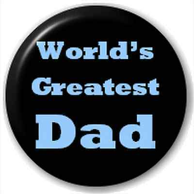 Small 25mm Lapel Pin Button Badge Novelty World'S Greatest Dad
