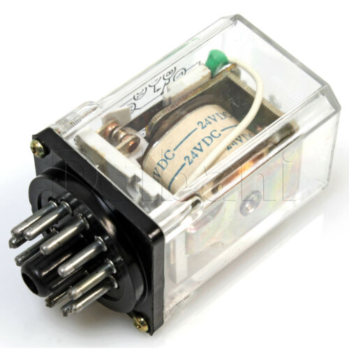 JQX-10F//32 Coil Electro Magnetic Relay 10A 24VDC 2PDT 11 pin