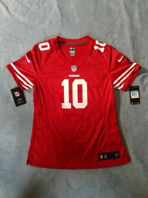 wholesale dealer 7edd8 d0beb San Francisco 49ers Jersey #10 Jimmy Garoppolo Red WMN M Medium NFL Fangear  Nike