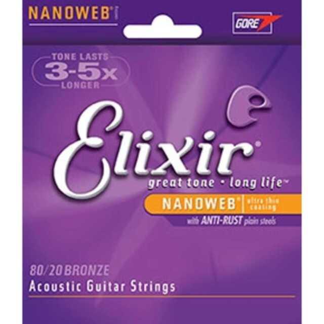 ELIXIR,1077 Acoustic 80/20 .012-.056 Bronze with NANOWEB Coating