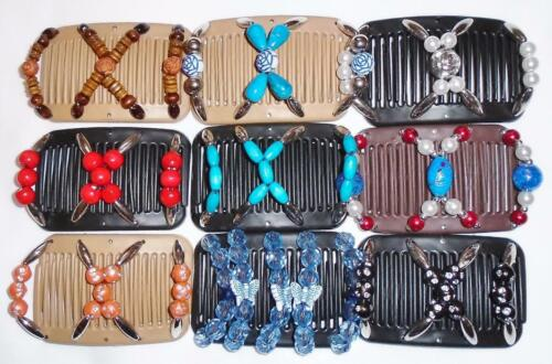 """MC6 African Butterfly Style Magic Combs Angel Wings MINI Hair Clips 3.x2.5/"""""""